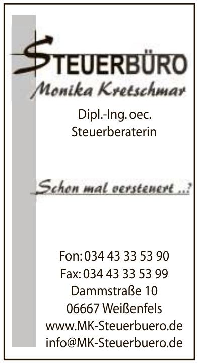 Steuerbüro Monika Kretschmar Dipl.-Ing. oec. Steuerberaterin