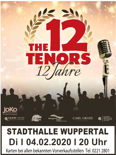 The 12 Tenors - 12 Jahre
