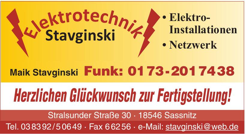 Elektrotechnik Stavginski