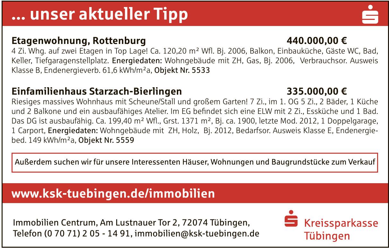 KSK Tübingen Immobilien Centrum