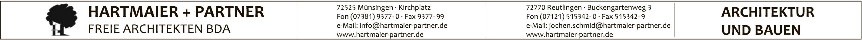 Hartmaier + Partner Freie Architekten BDA