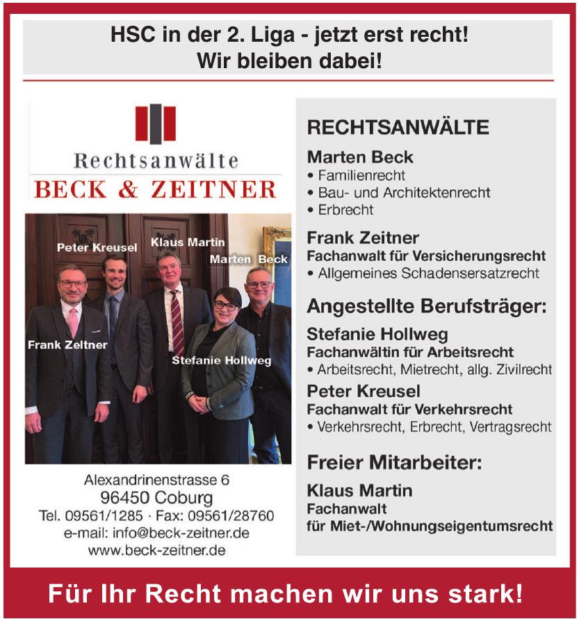 Rechtsanwälte Beck & Zeitner