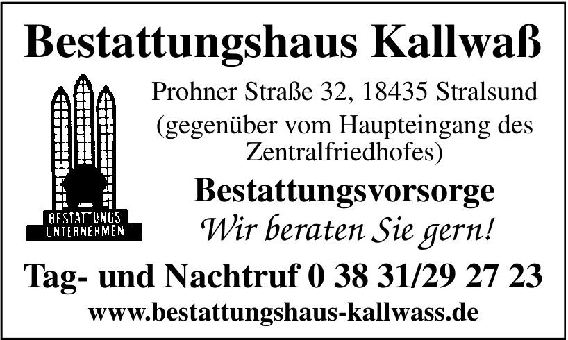 Bestattungshaus Kallwaß
