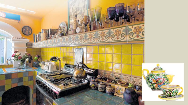 Bunte Farben und kleine Keramikschalen und –figürchen sieht man oft in mexikanischen Haushalten. FOTOS: IMAGO/DANITA DELIMONTIMAGO; ISTOCK/ST OCKCAM