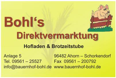Hofladen & Brotzeitstube Bohl