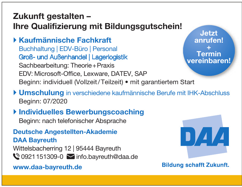 Deutsche Angestellten-Akademie DAA Bayreuth