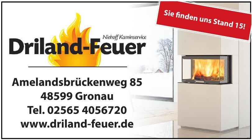 Driland-Feuer , Niehoff Kaminservice
