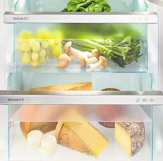 Frisch, nachhaltig und gesund: Die neuen Liebherr-Kühlgeräte sind wahre Alleskönner, denn sie sorgen nicht nur für lange Frische, sondern leisten auch einen Beitrag gegen Lebensmittelverschwendung.