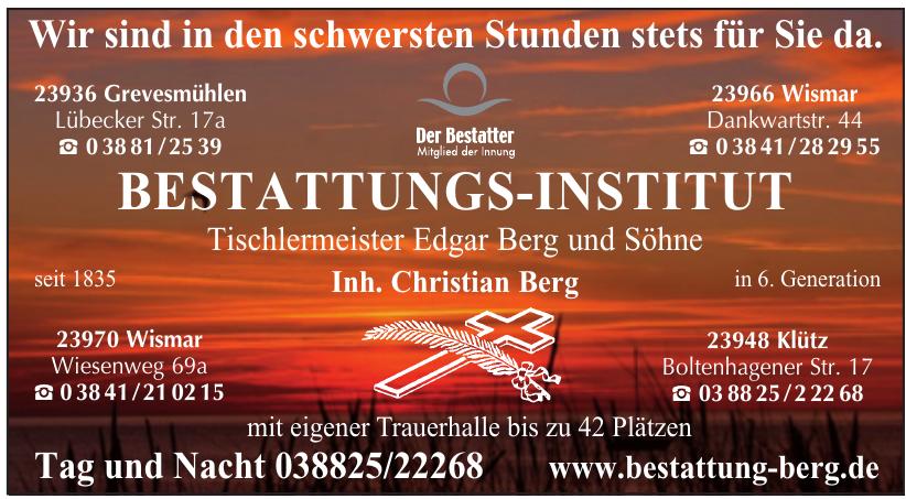 Bestattungs-Institut - Tischlermeister Edgar Berg und Söhne