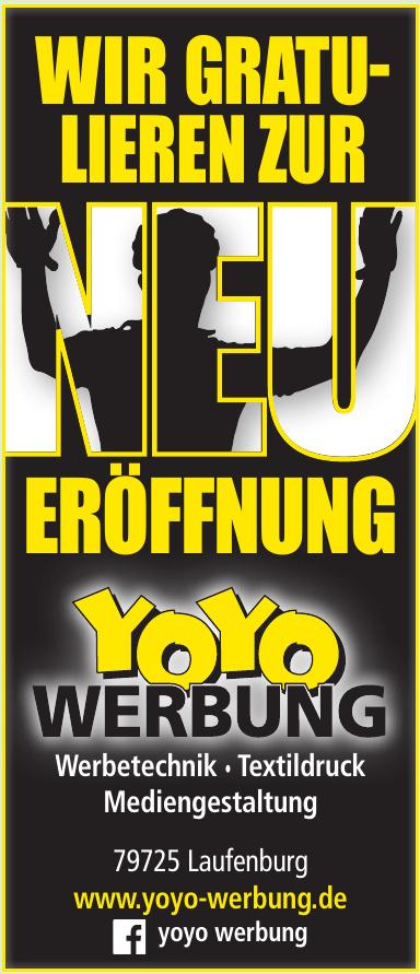 Yoyo Werbung