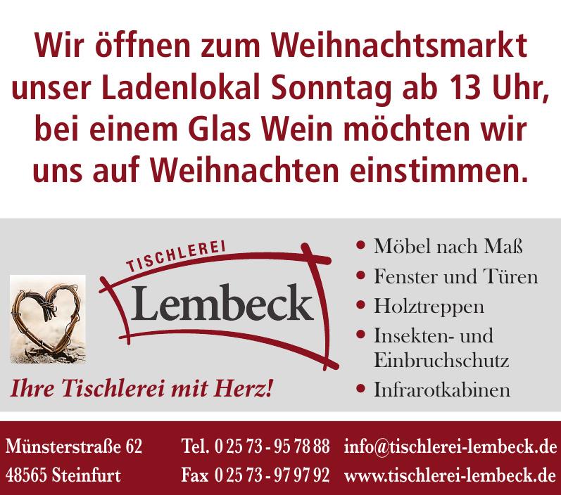 Tischlerei Lembeck