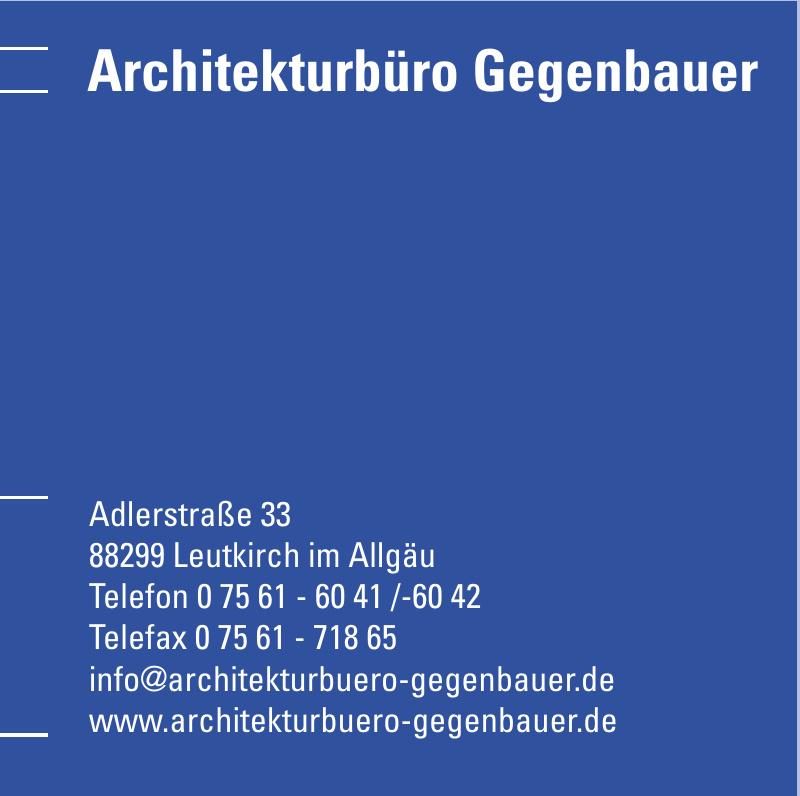 Architekturbüro Gegenbauer