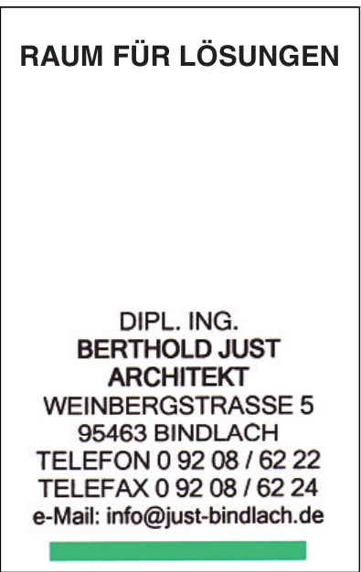 Dipl. Ing. Berthold Just Architekt