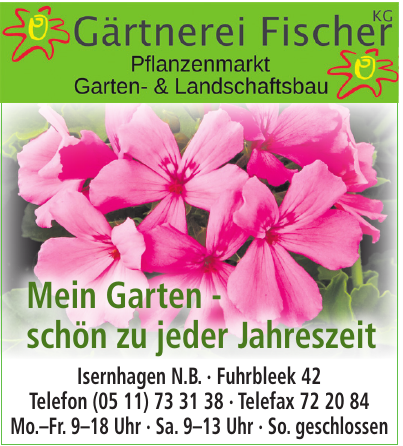 Gartnerei Fischer KG Garten- & Landschaftsbau Pflanzenmarkt