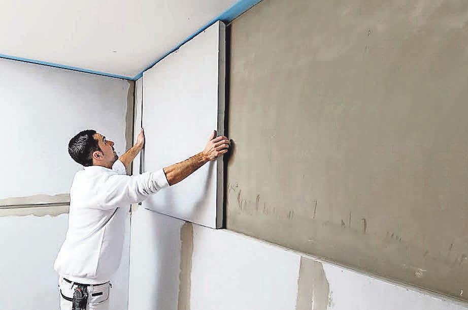 Die Isotec-Innendämmung kann die innenseitige Oberflächentemperatur der Außenwände um etwa fünf Grad erhöhen.