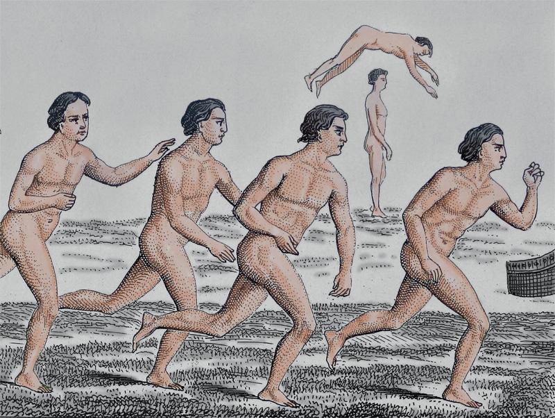 Ob bei den Olympischen Spielen der Antike oder in Tokyo 2020: Laufen ist ein Wettkampf- Klassiker. Urzeitliche Menschen waren rennend auf Nahrungssuche