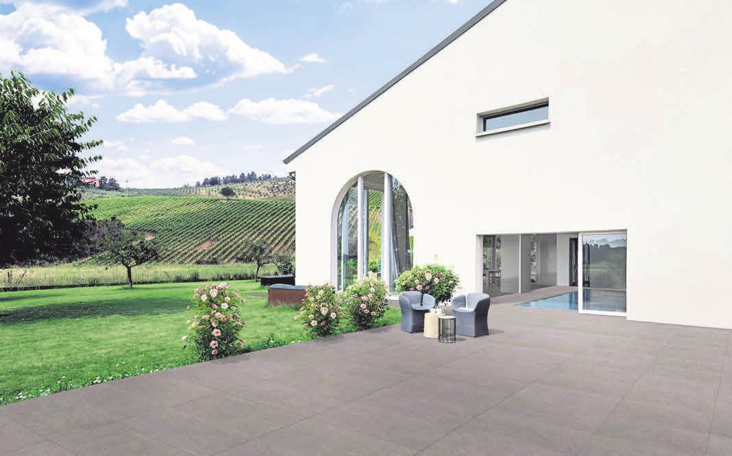 Optischer Blickfang: Außenfliesen sind ideale Alternativen zu Beton oder Holz auf der Terrasse. Foto: Atlas Concorde