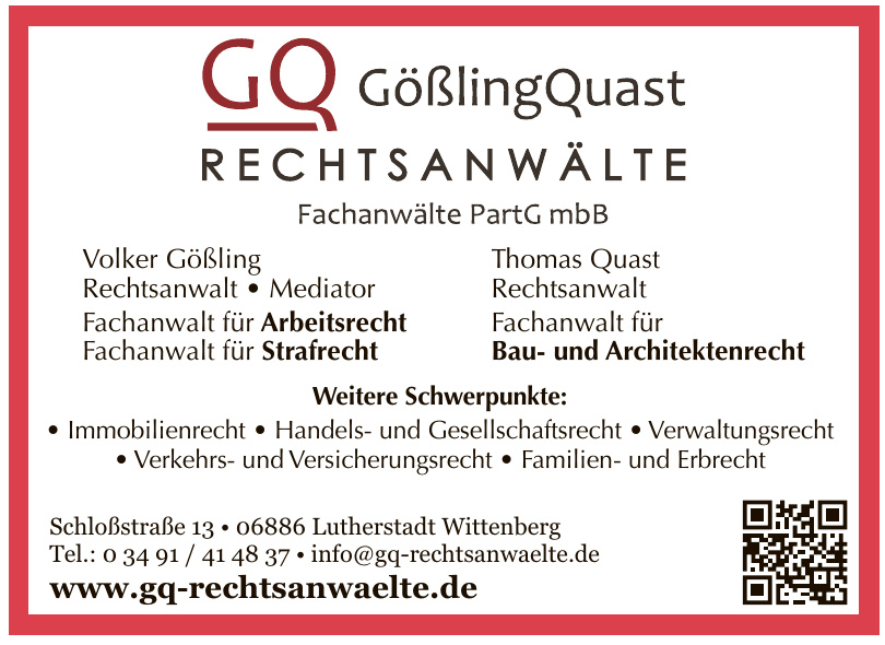 GQ GößlingQuast Rechtsanwälte Fachanwälte PartG mbB