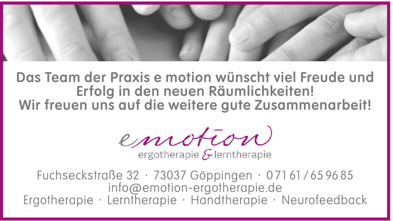 Emotion ergotherapie & lerntherapie