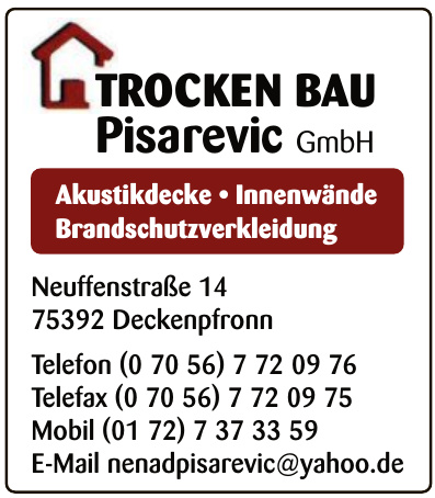 Trocken Bau Pisarevic GmbH
