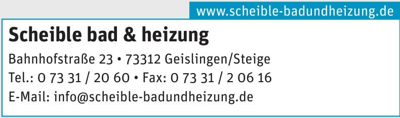 Scheible bad & heizung