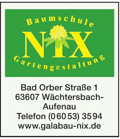 Baumschule - Gartengestaltung NIX