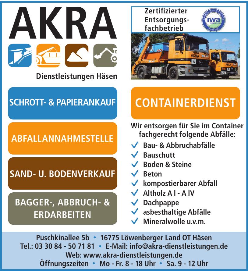 Akra Dienstleistungen Häsen
