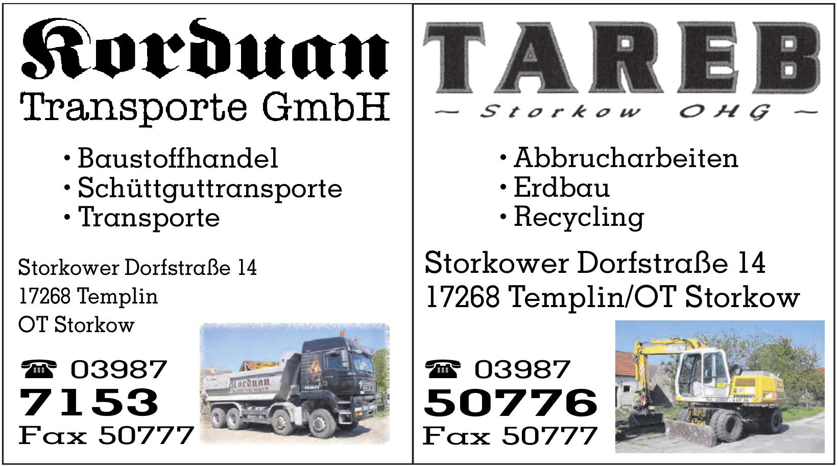 Tareb Storkow OHG
