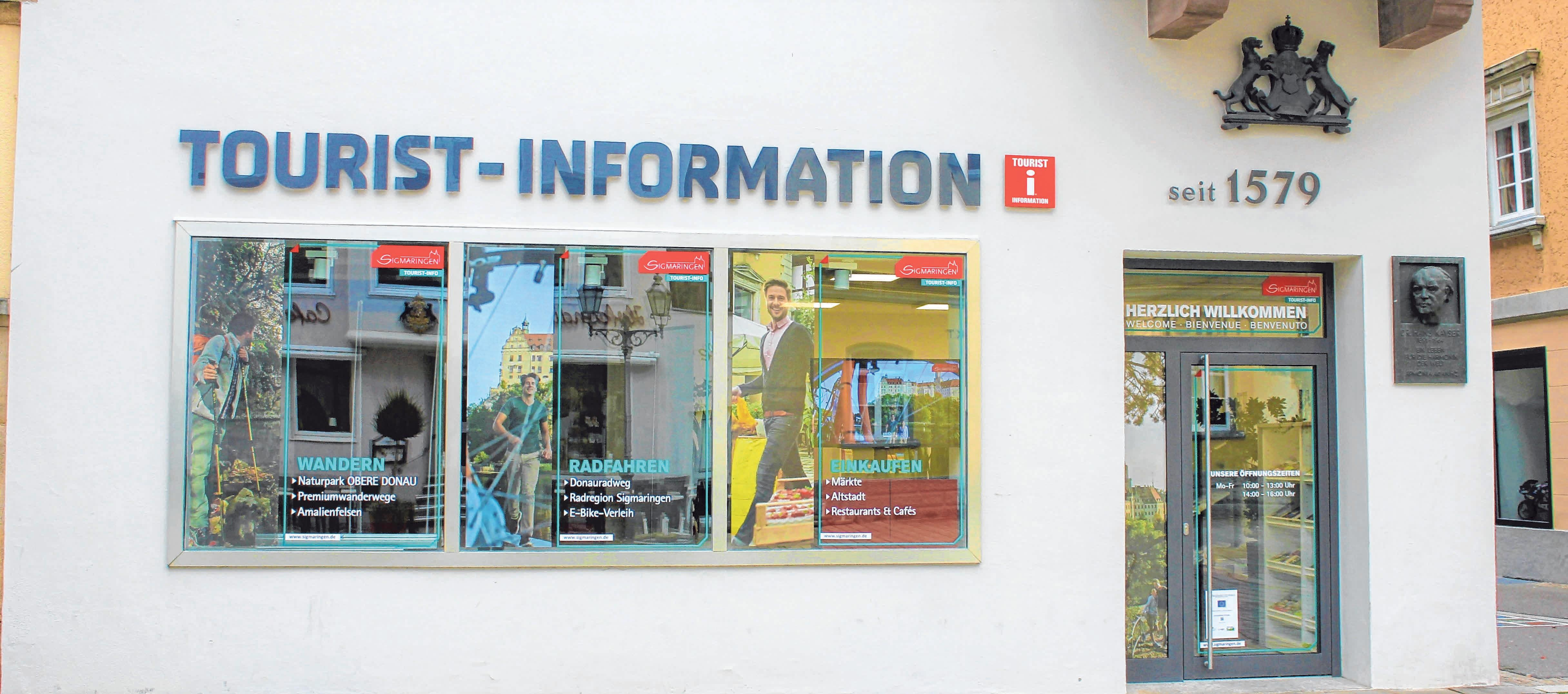 Direkt neben dem Rathaus befindet sich nun die neue Tourist-Information.