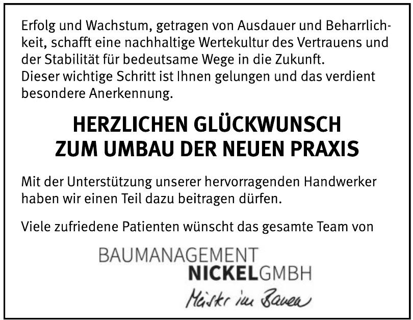 Baumanagement Nickel GmbH