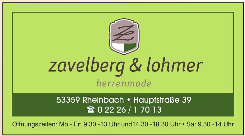 Zavellberg & Lohmer Herrenmode