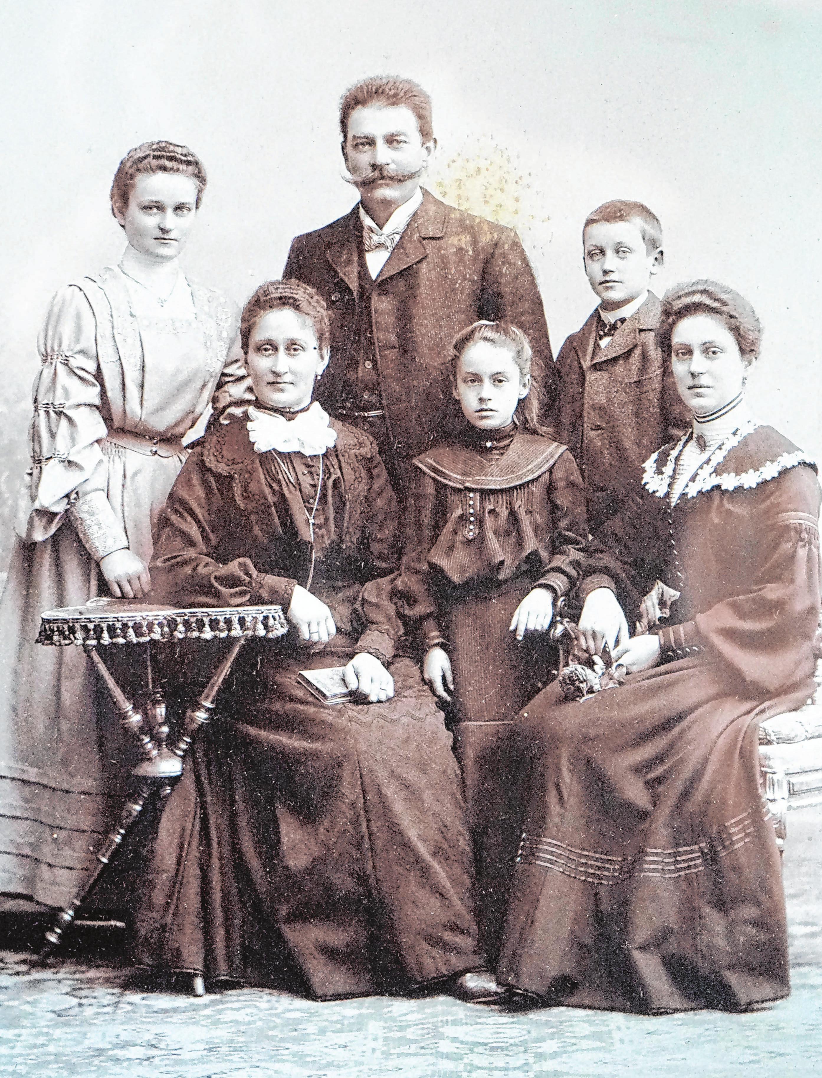 Firmengründer Max Mahnke und seine Familie. Foto: Privat