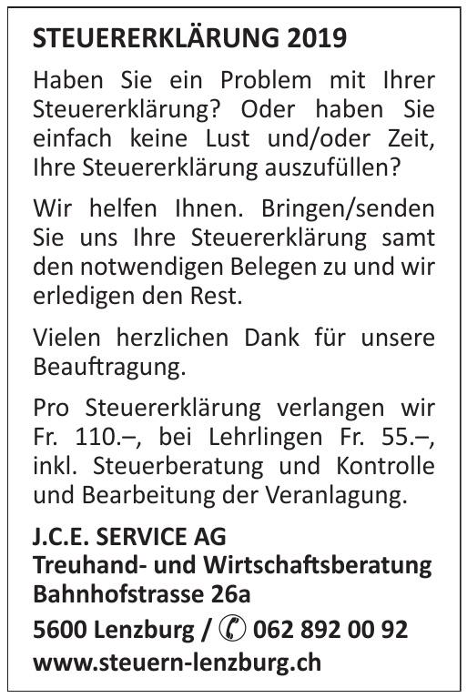 J.C.E. SEVICE AG Treuhand- und Wirtschaftsberatung