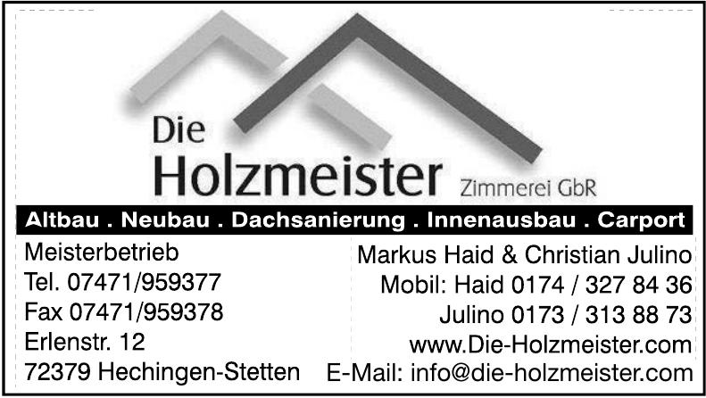 Die Holzmeister, Zimmerei Meisterbetrieb Gbr Markus Haid & Christian Julino