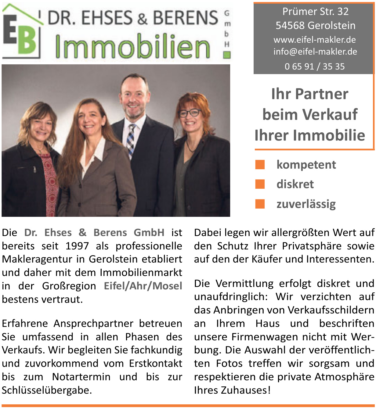 EB Immobilien Dr. Ehses & Berens GmbH