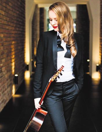 Tatyana Ryzhkova lädt zum Gitarrenkonzert im Planetarium ein. Foto: Künstlerin