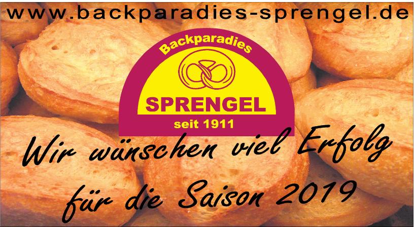 Backparadies Sprengel