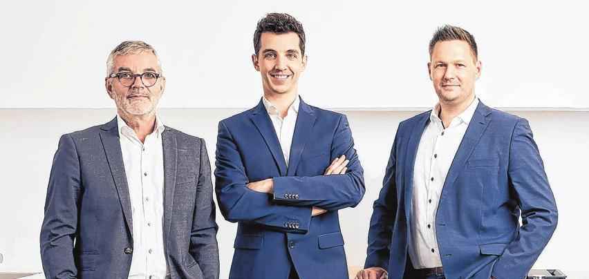 Hans Jörg Grüner, David Grüner und Matthias Albrecht freuen sich auf die Verstärkung ihres Teams.