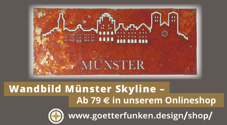Wandbild Münster Skyline