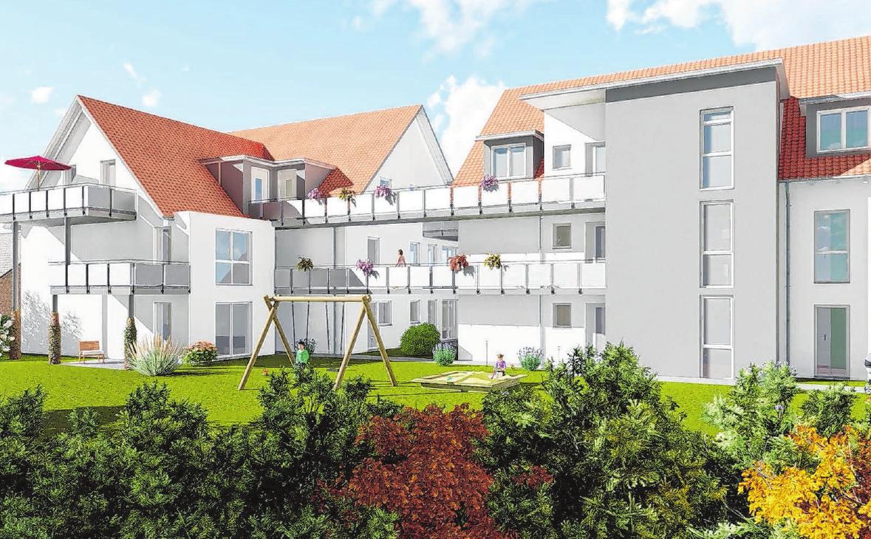 In den drei Familienhäusern, die in der Adelheidstraße entstehen, finden sowohl Singles, als auch Paare und Familien Platz. Trotz der guten Innenstadtlage ist die Umgebung sehr ruhig. Grafik: H.S. Bau