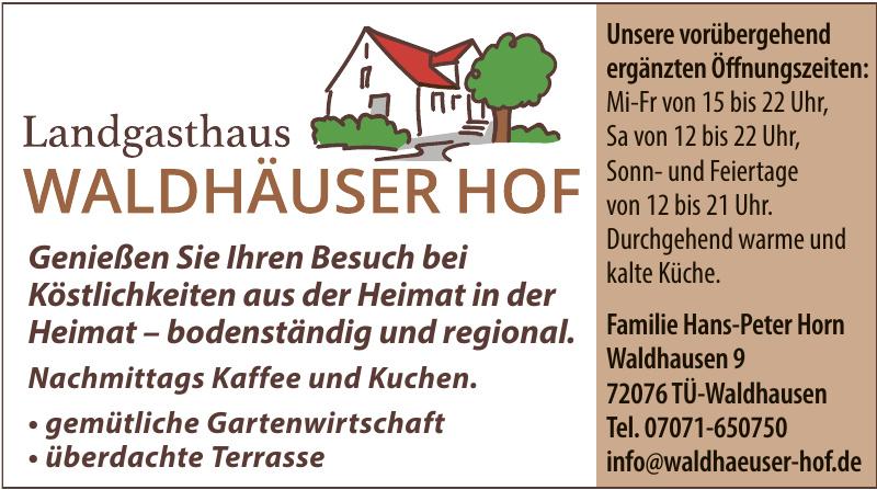Landgasthaus Waldhäuser Hof