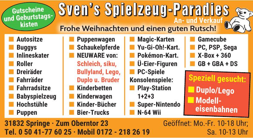 Sven's Spielzeug - Paradies