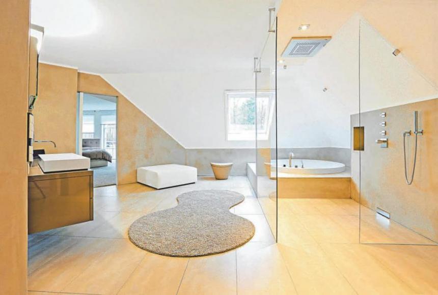Großzügige Grundrisse schaffen Badkomfort in jedem Lebensalter und erleichtern die Nutzung bei körperlichen Einschränkungen.