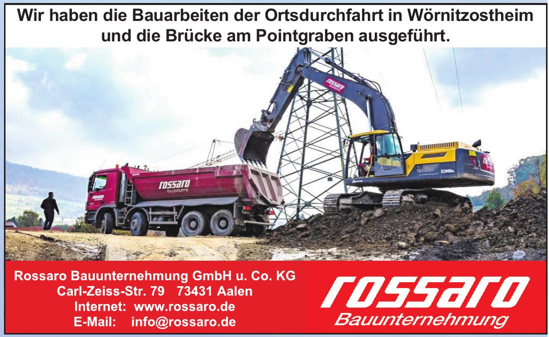 Rossaro Bauunternehmung GmbH u. Co. KG