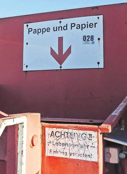 Auch Altpapier kann unkompliziert entsorgt werden.