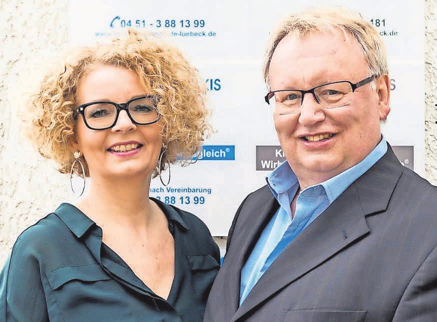 Monika und Ullrich Döring, Leiter der Heilpraktikerschule Lübeck. Foto: Christoffer Greiss