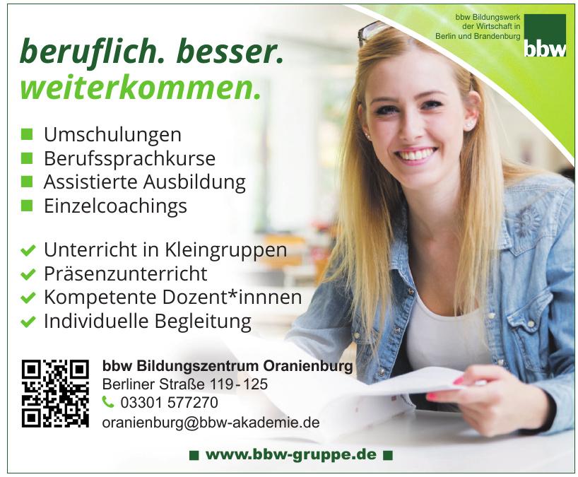 bbw Bildungszentrum Oranieburg