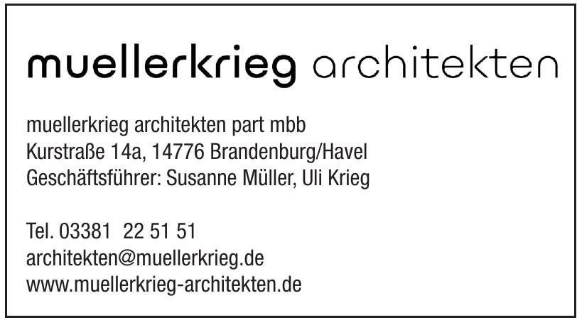 Müllerkrig Architekten Part MBB
