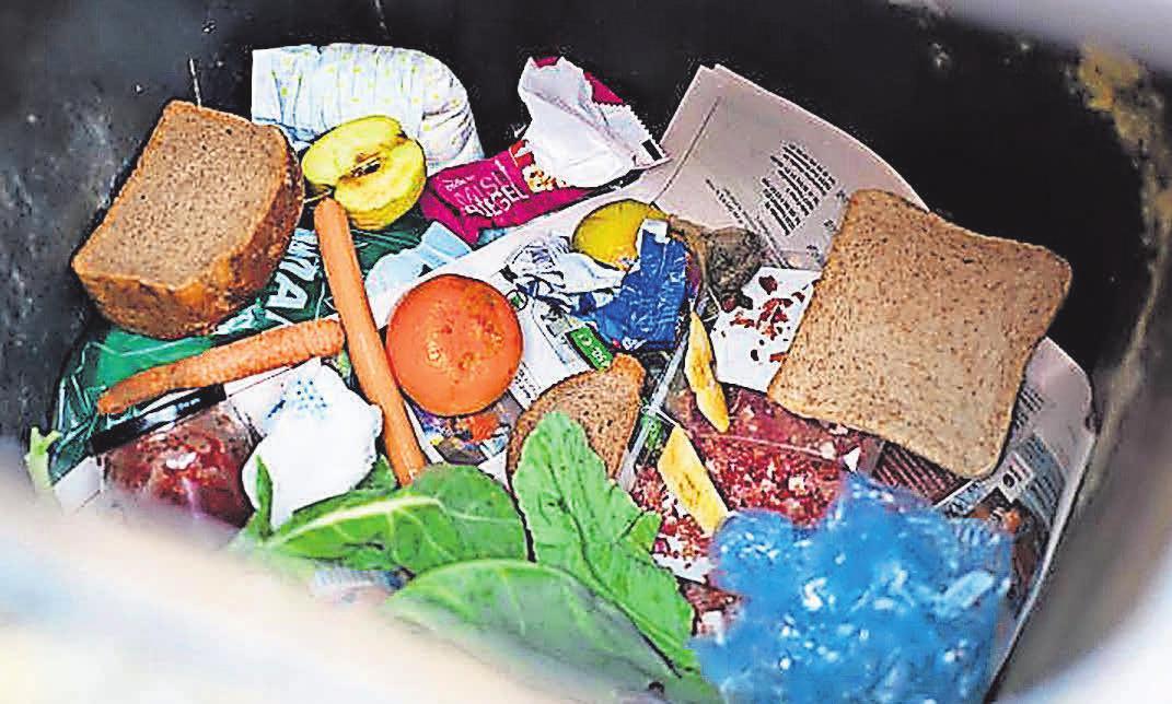 Landen viel zu oft im Müll: Lebensmittel. FOTO: DPA