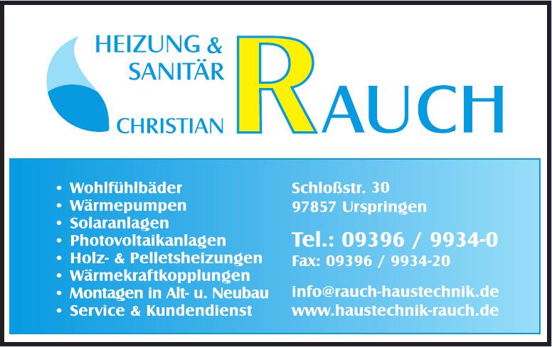 Christian Rauch Heizungs- und Sanitärtechnik